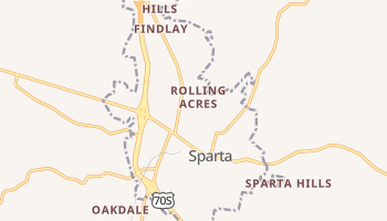 Sparta, Tennessee map