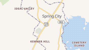 Spring City, Tennessee map