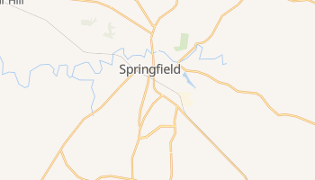 Springfield, Tennessee map