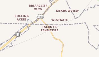 Talbott, Tennessee map