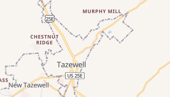 Tazewell, Tennessee map