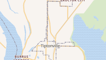 Tiptonville, Tennessee map