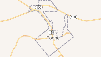 Toone, Tennessee map