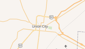 Union City, Tennessee map