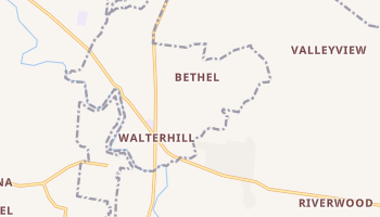 Walterhill, Tennessee map