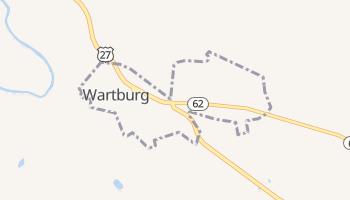 Wartburg, Tennessee map
