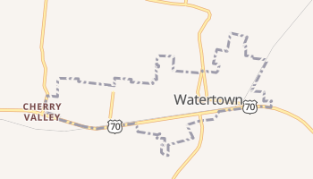 Watertown, Tennessee map