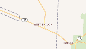 West Shiloh, Tennessee map