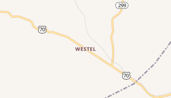 Westel, Tennessee map
