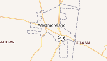 Westmoreland, Tennessee map