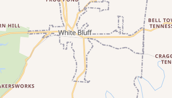 White Bluff, Tennessee map