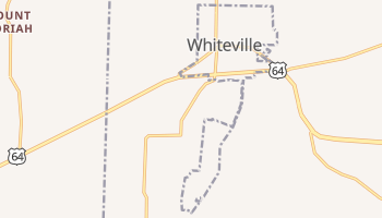 Whiteville, Tennessee map