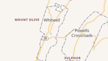Whitwell, Tennessee map