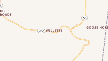 Willette, Tennessee map