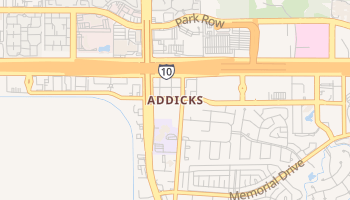 Addicks, Texas map