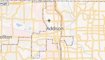 Addison, Texas map
