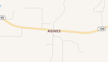 Agnes, Texas map
