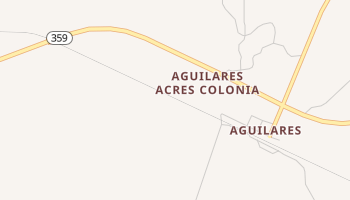 Aguilares, Texas map