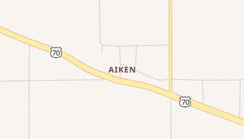 Aiken, Texas map