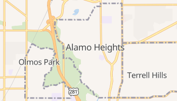 Alamo Heights, Texas map