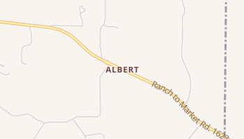 Albert, Texas map