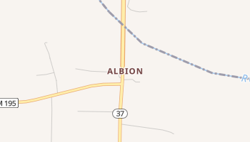 Albion, Texas map