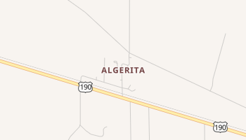 Algerita, Texas map