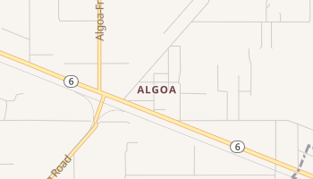 Algoa, Texas map