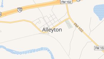Alleyton, Texas map