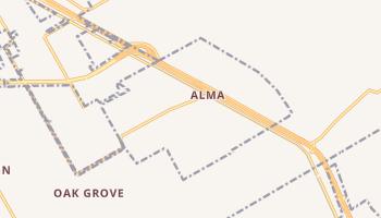 Alma, Texas map