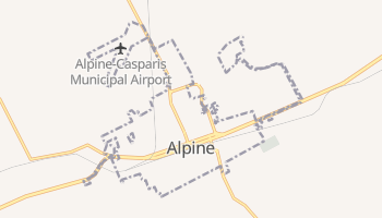 Alpine, Texas map