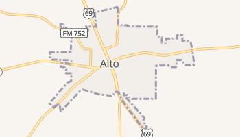 Alto, Texas map