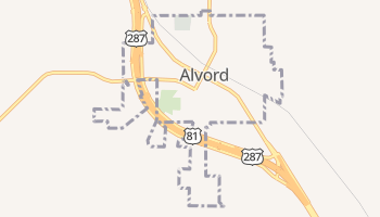 Alvord, Texas map