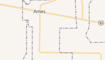 Ames, Texas map