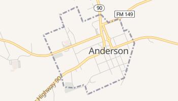 Anderson, Texas map