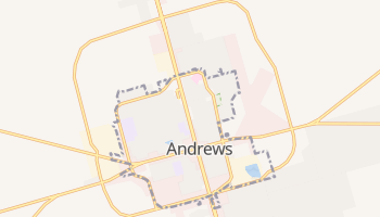 Andrews, Texas map