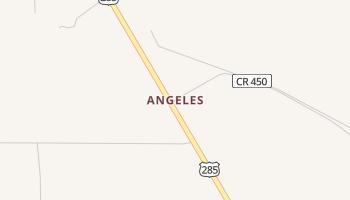 Angeles, Texas map