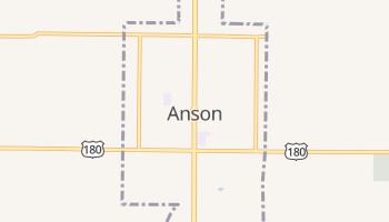 Anson, Texas map