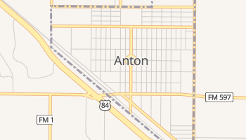 Anton, Texas map
