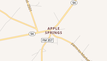 Apple Springs, Texas map