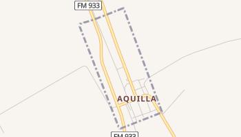 Aquilla, Texas map