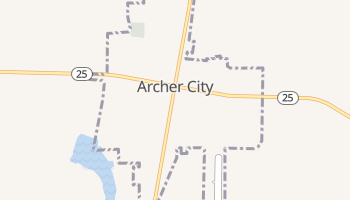 Archer City, Texas map