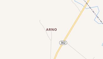 Arno, Texas map