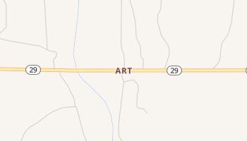 Art, Texas map