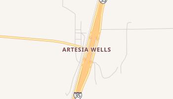 Artesia Wells, Texas map
