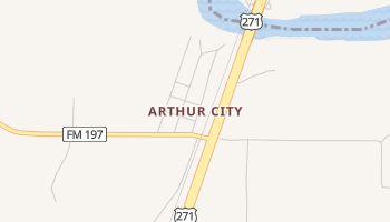 Arthur City, Texas map