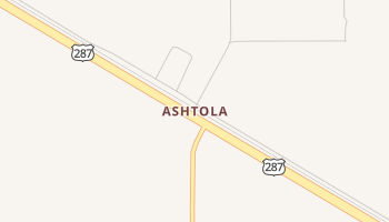 Ashtola, Texas map