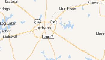 Athens, Texas map
