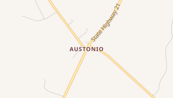 Austonio, Texas map