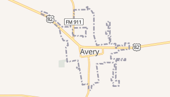 Avery, Texas map